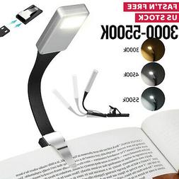 USB Rechargeable LED Book Light Flexible Clip On Book Light