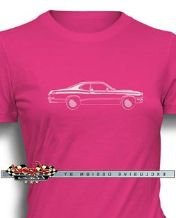 1971 Plymouth Duster Coupe T-Shirt for Women Multiple Colors