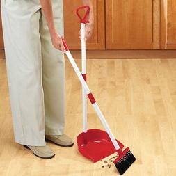 2 in 1 Long Handled Broom Set Duster Pan Kitchen Floor Dustp