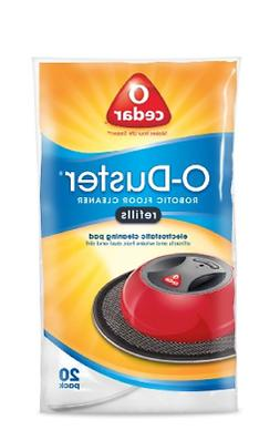 20 Pack O-Duster Contains Cleaning Pads Refill For Robotic F