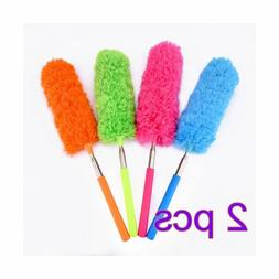 2pc Microfiber Duster Dusting Brush with Extendable Pole for