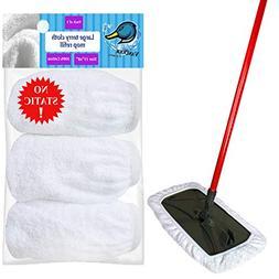 VanDuck 3 Large Mop 100% Cotton Pad Terry Cloth Refills. 15x