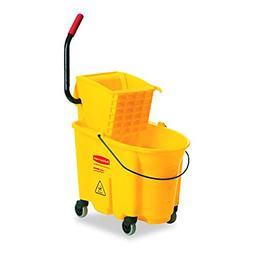 Rubbermaid 748018YW Wavebrake 26-Quart Side Press Mop Bucket
