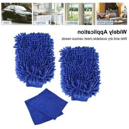 Car Kitchen Home Cleaning Mitts Cloth Polishing Towel Wipe W