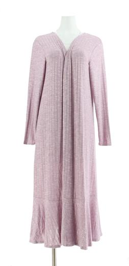 Lisa Rinna Collection Knit Duster Ruffle Hemline Lavender Mi