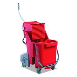 Unger COMBR Side-Press Restroom Mop Dual Bucket Combo, 8gal,
