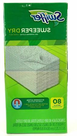 Swiffer CW-596641-1 Swiffer Sweeper Dry Cloth Refill, 80 per