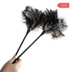 MEIWO Dust Brush 2 Pack Mini Ostrich Feather Duster Perfect
