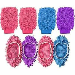 Dust Cloths Mop Slippers Dusting Mitt, Duster Shoes Cover 2