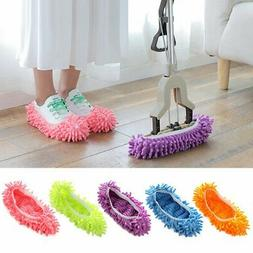 Dust Duster Mop Slippers Shoes Cover Soft Washable Reusable
