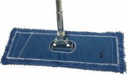 """Dust Mop Kit: 48"""" Blue Industrial Microfiber Dust Mop, Wire"""