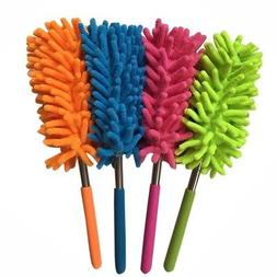 Extendable Duster Telescopic Microfiber Cleaning Brush Feath