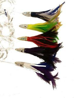 Feather Duster Saltwater Fishing Lures - Assorted Colors