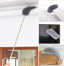 "FO&OSOBEIT Feather Duster Telescopic Pole 66"" Telescoping Ha"