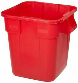 Rubbermaid Commercial FG352600RED LLDPE Square Brute 28-Gall