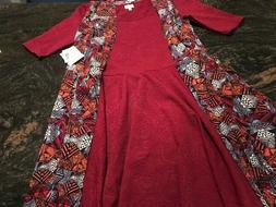 LuLaRoe GORGEOUS SOLID EMBOSSED Nicole Women's Dress L Joy D