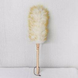Lambswool Feather Duster Cleaning Home Car Clean Dust Wood H
