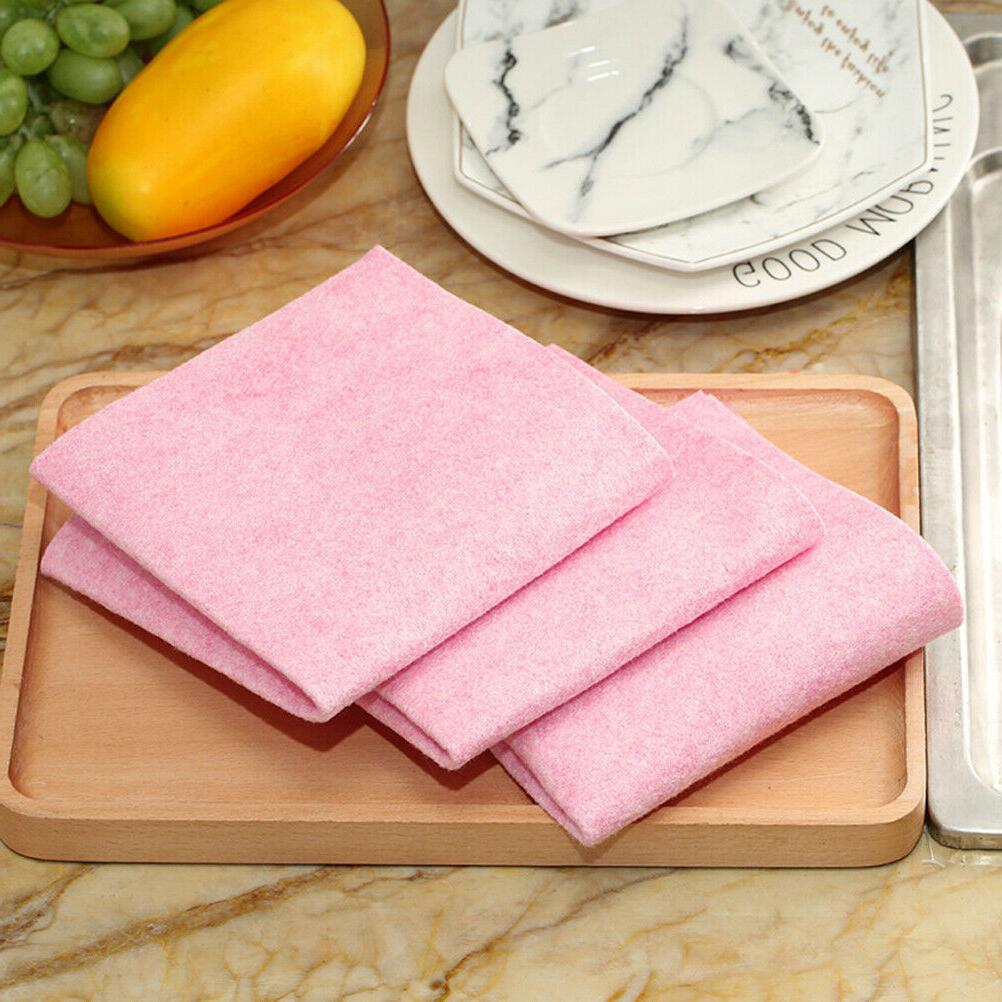 1pc dishcloth absorbent household dishwashing cloth duster