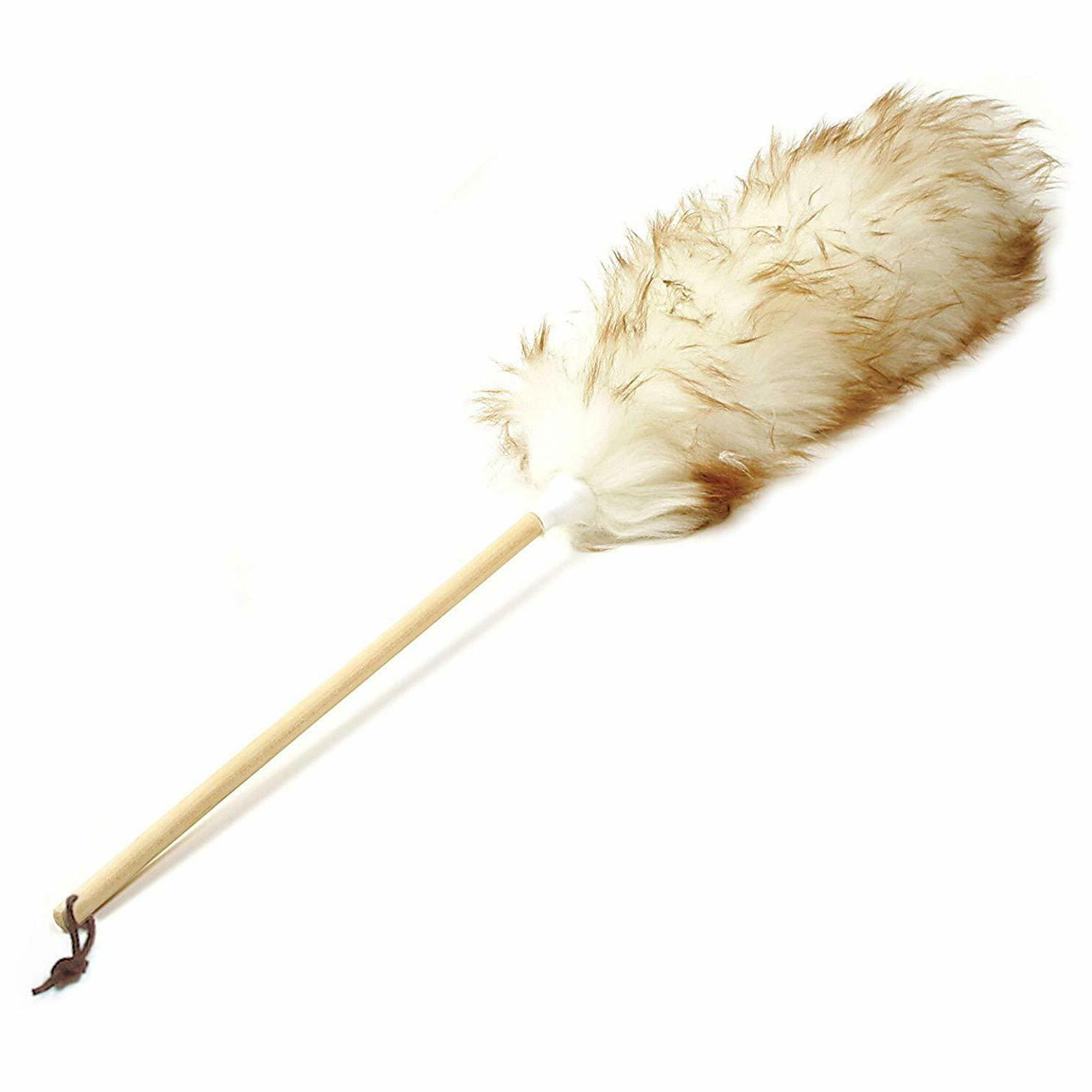 Norpro 24-Inch Pure Lambs Wool Duster with Wood Handle,Easy