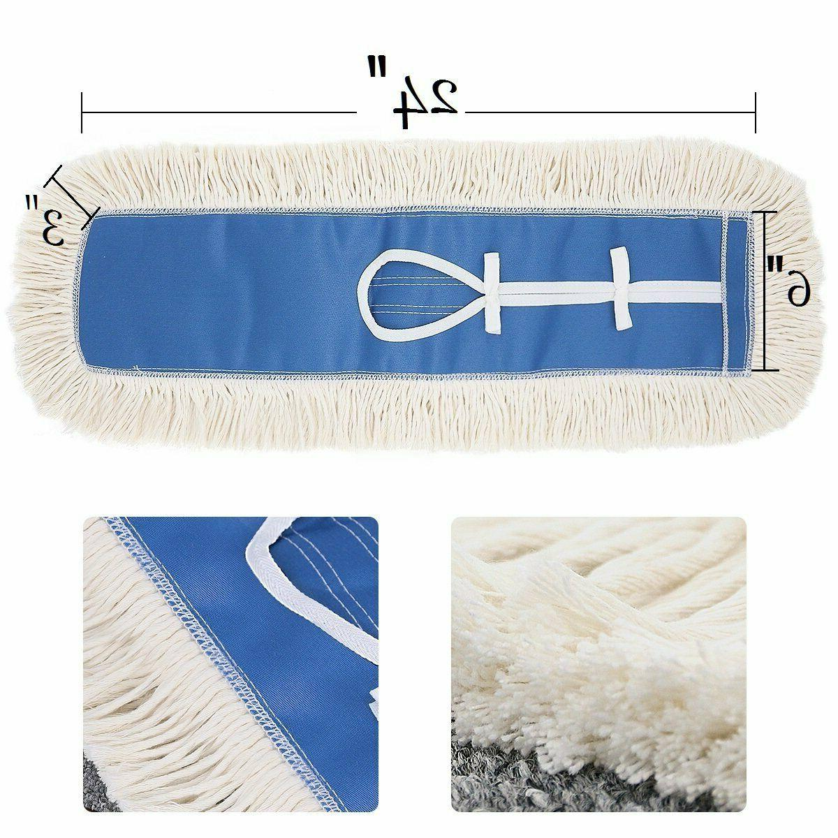 24'' Cotton Dust Mop Refill Thick Tufted