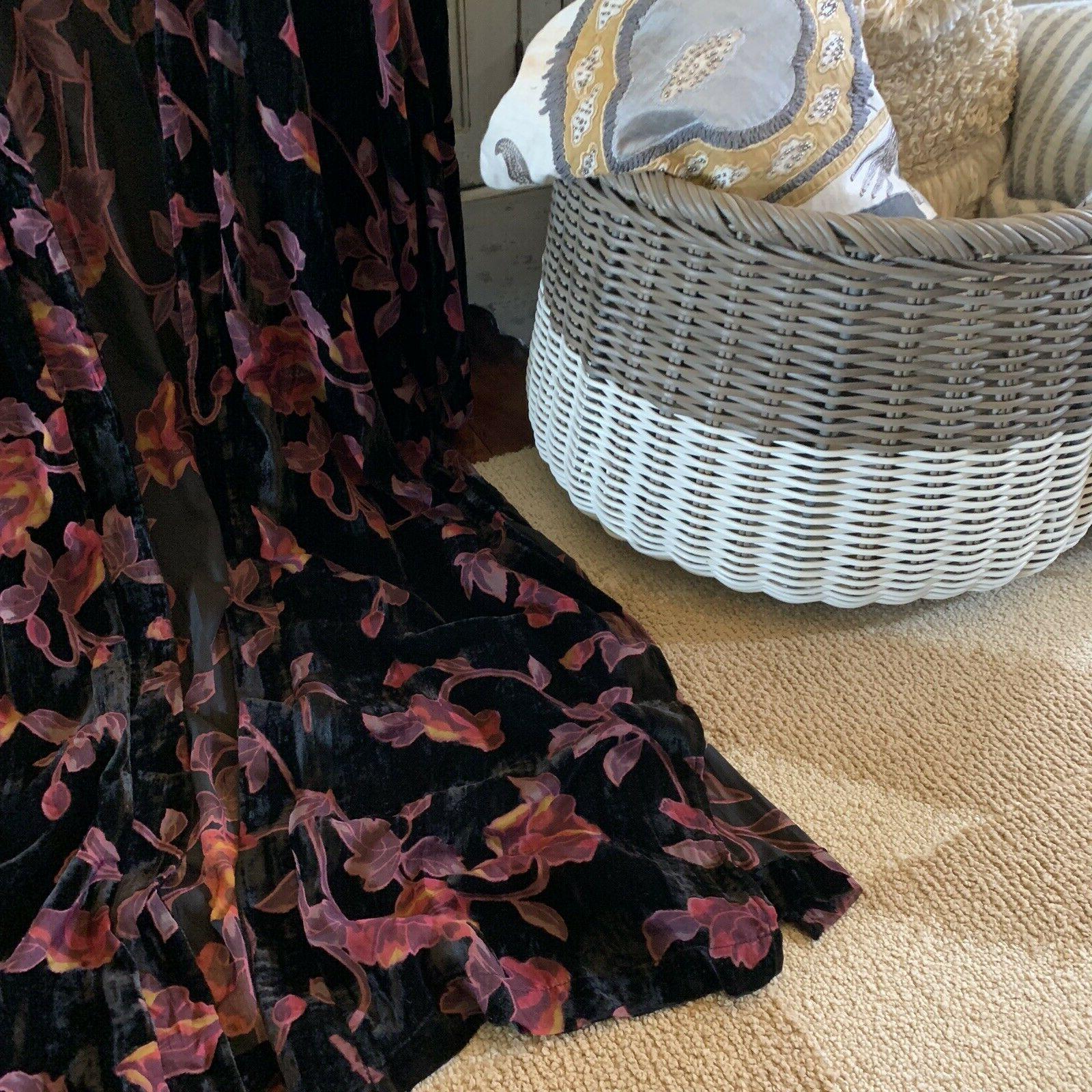 2X Boutique Plus Size Velvet Long Maxi Kimono Duster Jacket Top