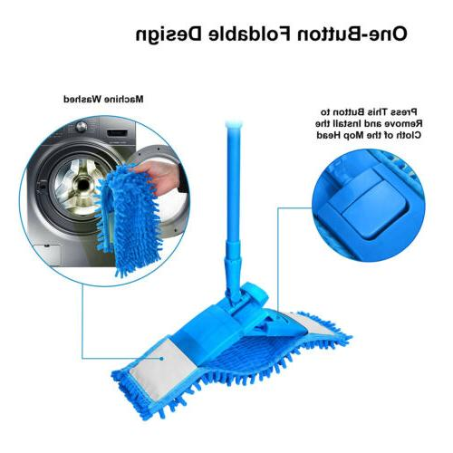 360° Mop Hardwood Floor Dust Washable Pads