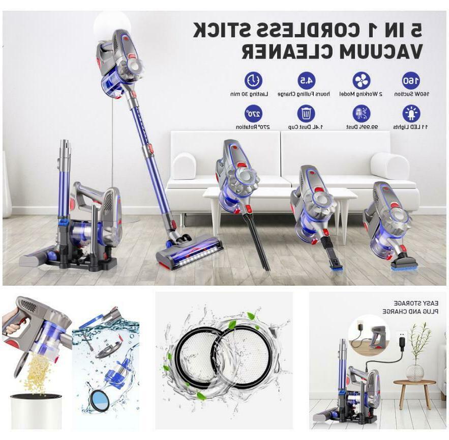 5 in 1 cordless stick handheld vacuum
