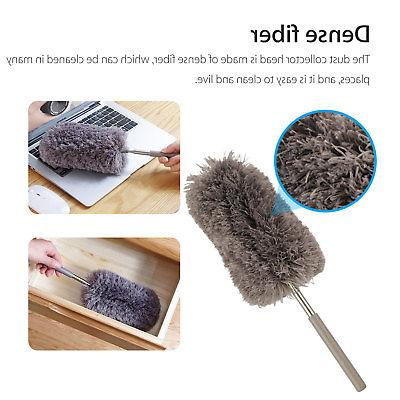 Adjustable Soft Microfiber Feather Duster Brush Household Cleaning Tool