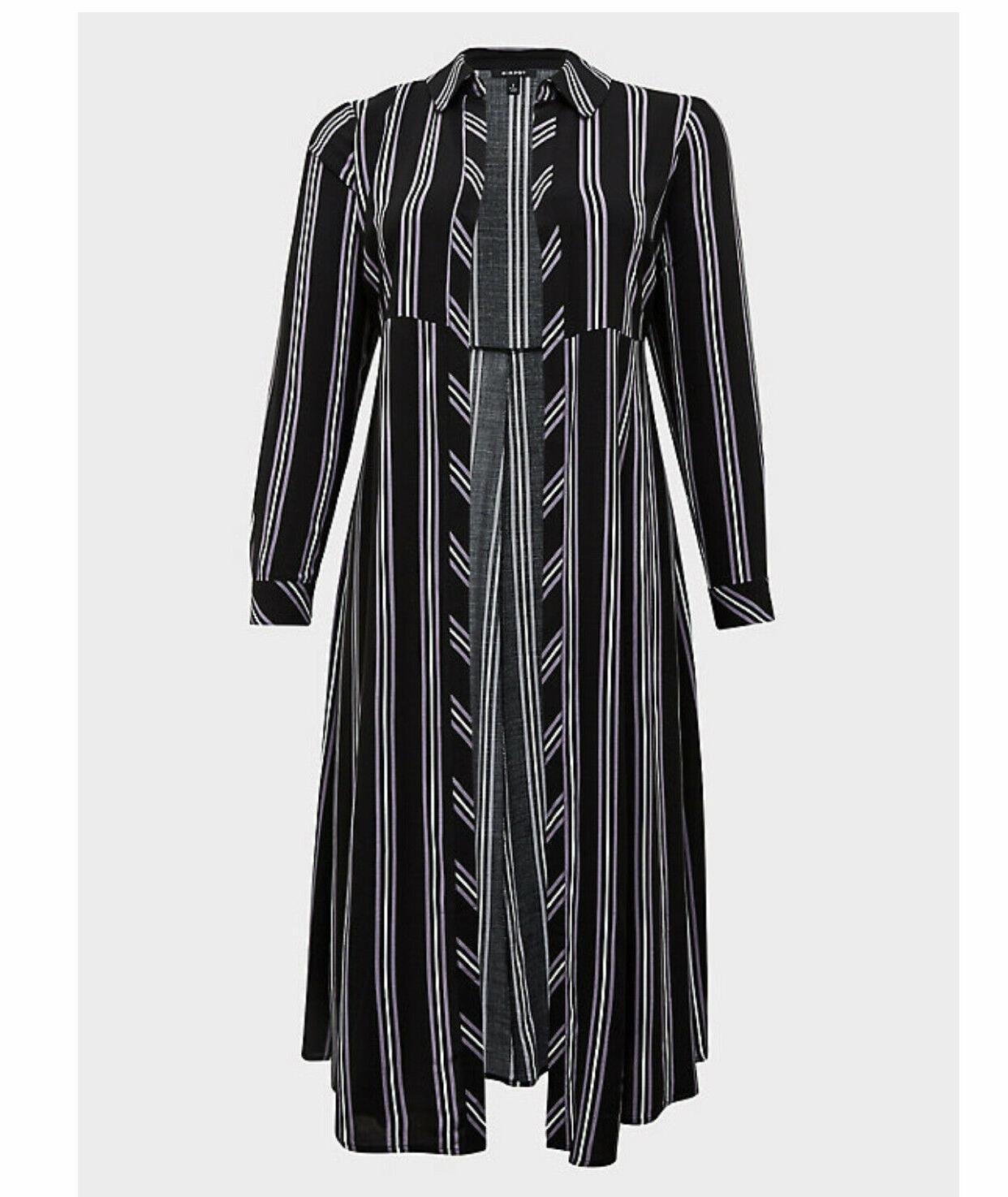 torrid Stripe Challis Duster Kimono Size 1