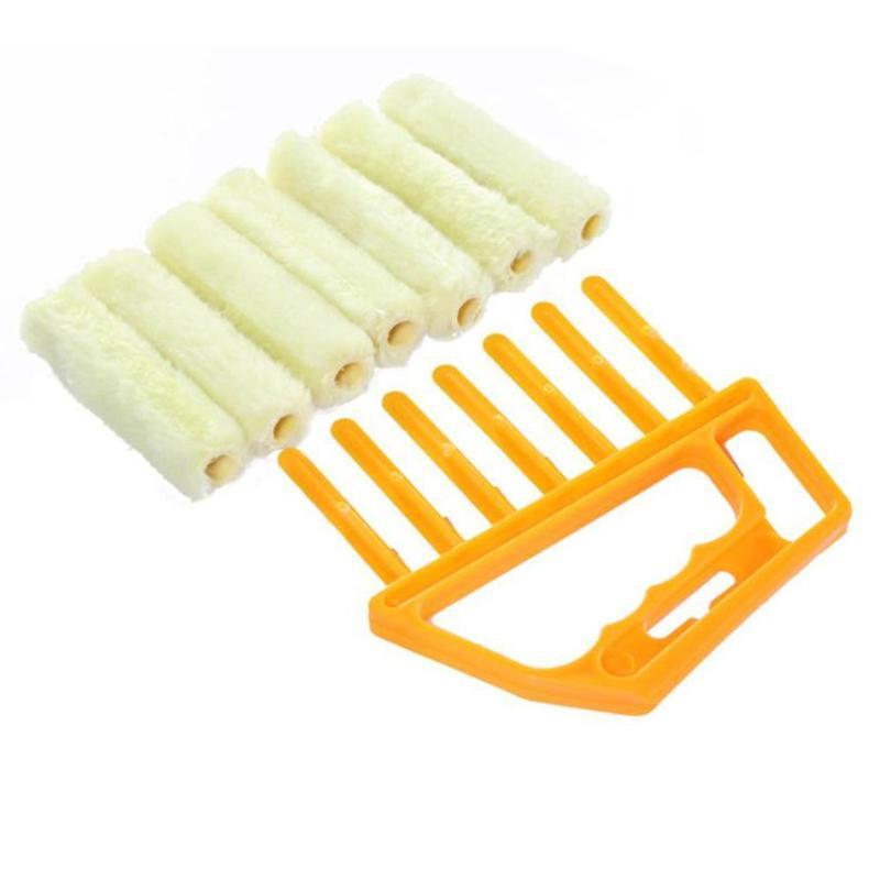 Blinds Plastic Rolling Cleaner Brush Home Easy Cleaning Tool