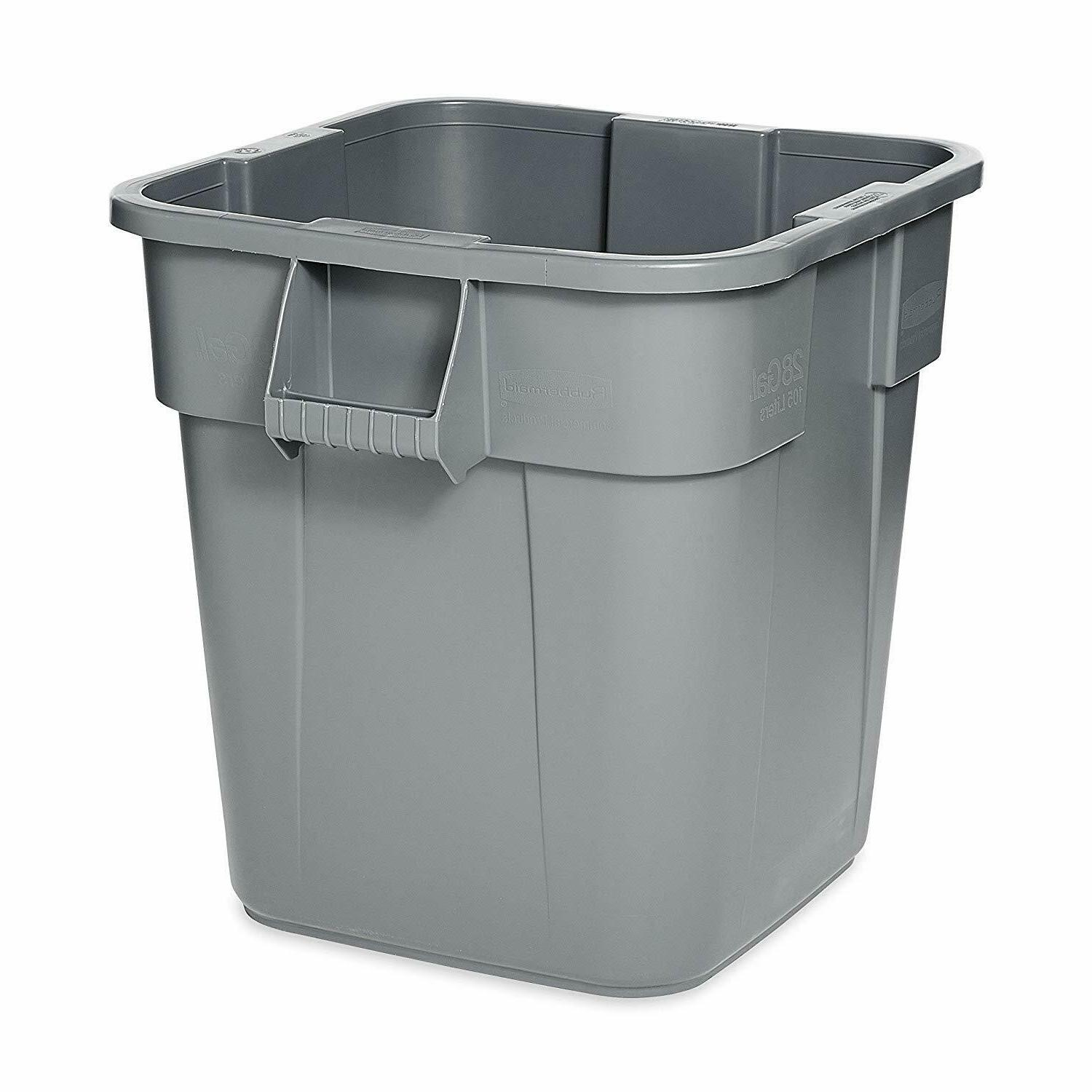 brute square bin storage container without lid