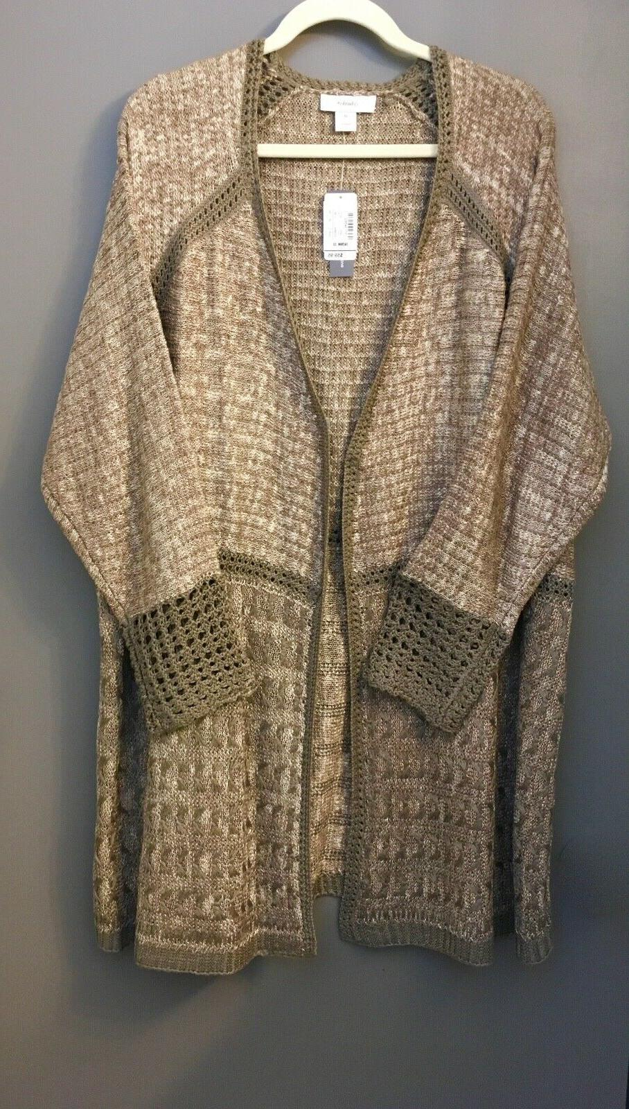 c j banks crochet trim knit duster