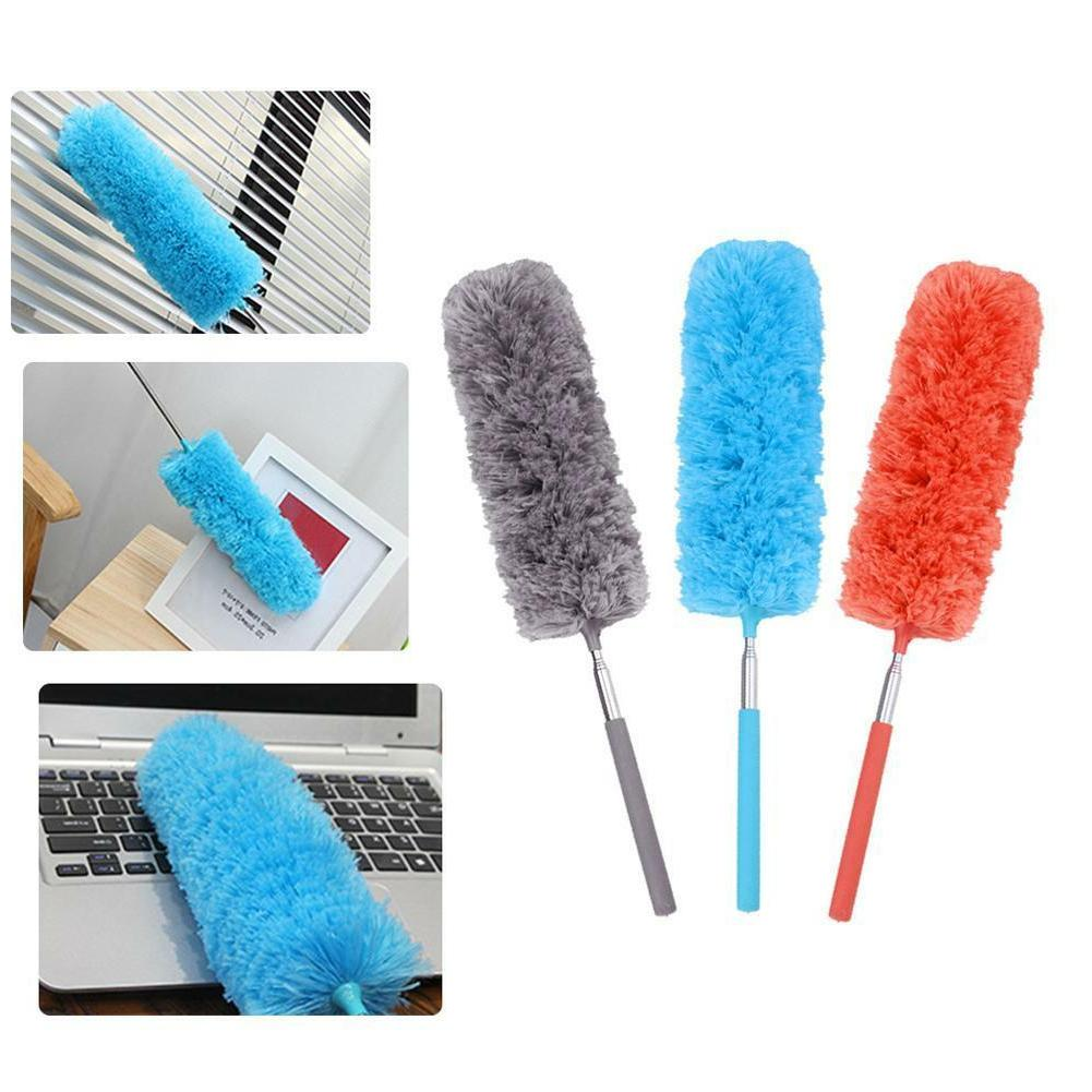 adjustable stretch microfiber feather duster household clean