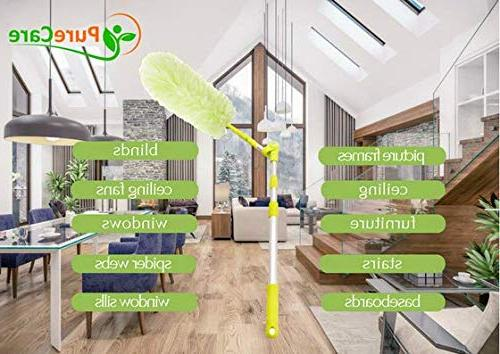 Pure Care with Lightweight Pole, High Reach, Washable, 360 Degree for Easy Cleaning