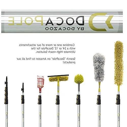 DocaPole Reach 5-12 Foot Extension // Kit Includes Cobweb Duster Fan Duster