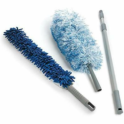 dual action microfiber duster set