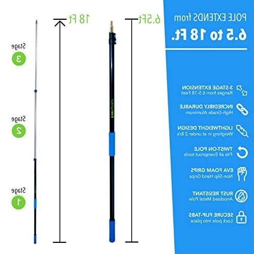 EVERSPROUT 3-Pack Extension-Pole Duster, Microfiber Flexible Microfiber Telescopic Pole