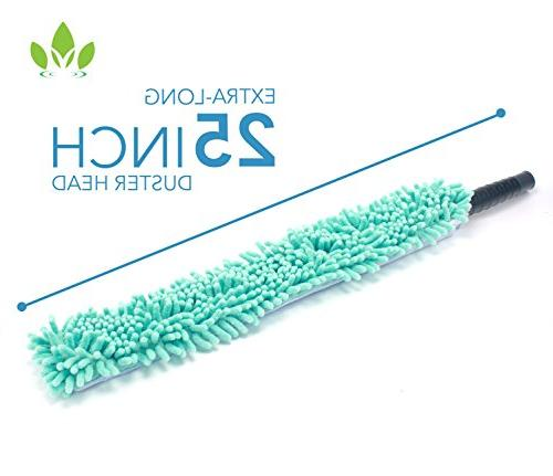EVERSPROUT Duster, Flexible Microfiber Ceiling Fan Duster | Telescopic Pole