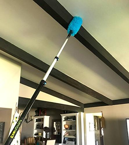 EVERSPROUT Duster Extension-Pole Hand-Packaged Duster, Feather Flexible Microfiber Ceiling & Fan Telescopic Pole