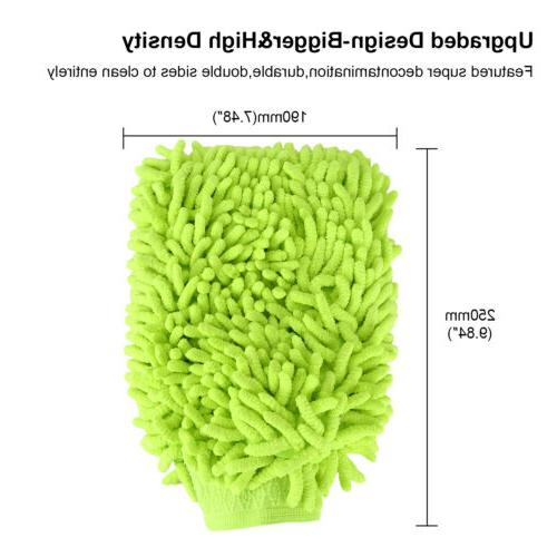 Duster Microfiber Car Cleaning Wash Mitts Waterproof 2 Pcs W