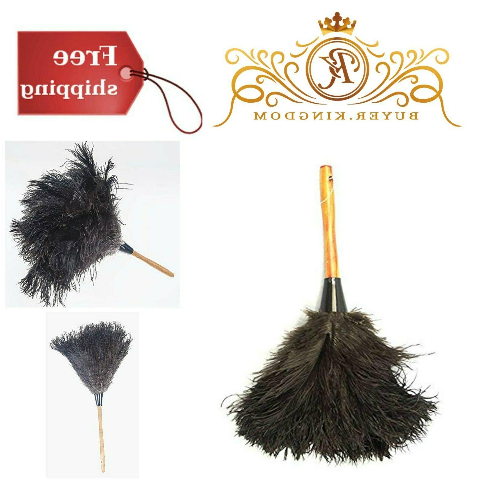 Feather Duster Ostrich Fur Dust Brush Cleaning Tools With Wo