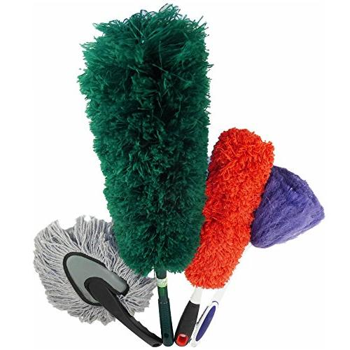 CleansGreen | for Cleaning; Bendable Reusable Screw Your Handle EcoFriendly Not Ostrich Feather Lambs
