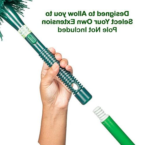 CleansGreen | Extendable Dusters for Cleaning; Reusable Screw on Your Long Handle EcoFriendly Not Feather Lambs Swiffer