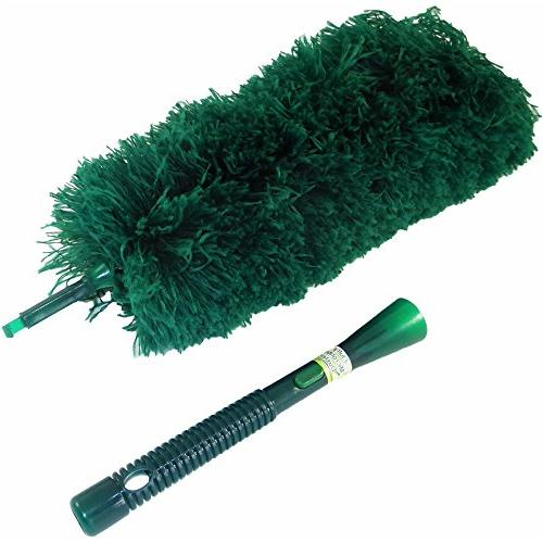 CleansGreen Fluffy | Dusters Cleaning; Bendable Washable Screw Your Handle For EcoFriendly Feather Wool Swiffer