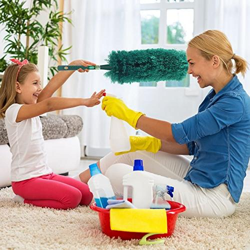 CleansGreen Fluffy Microfiber | Dusters for Screw on Your Handle EcoFriendly Not Feather Swiffer