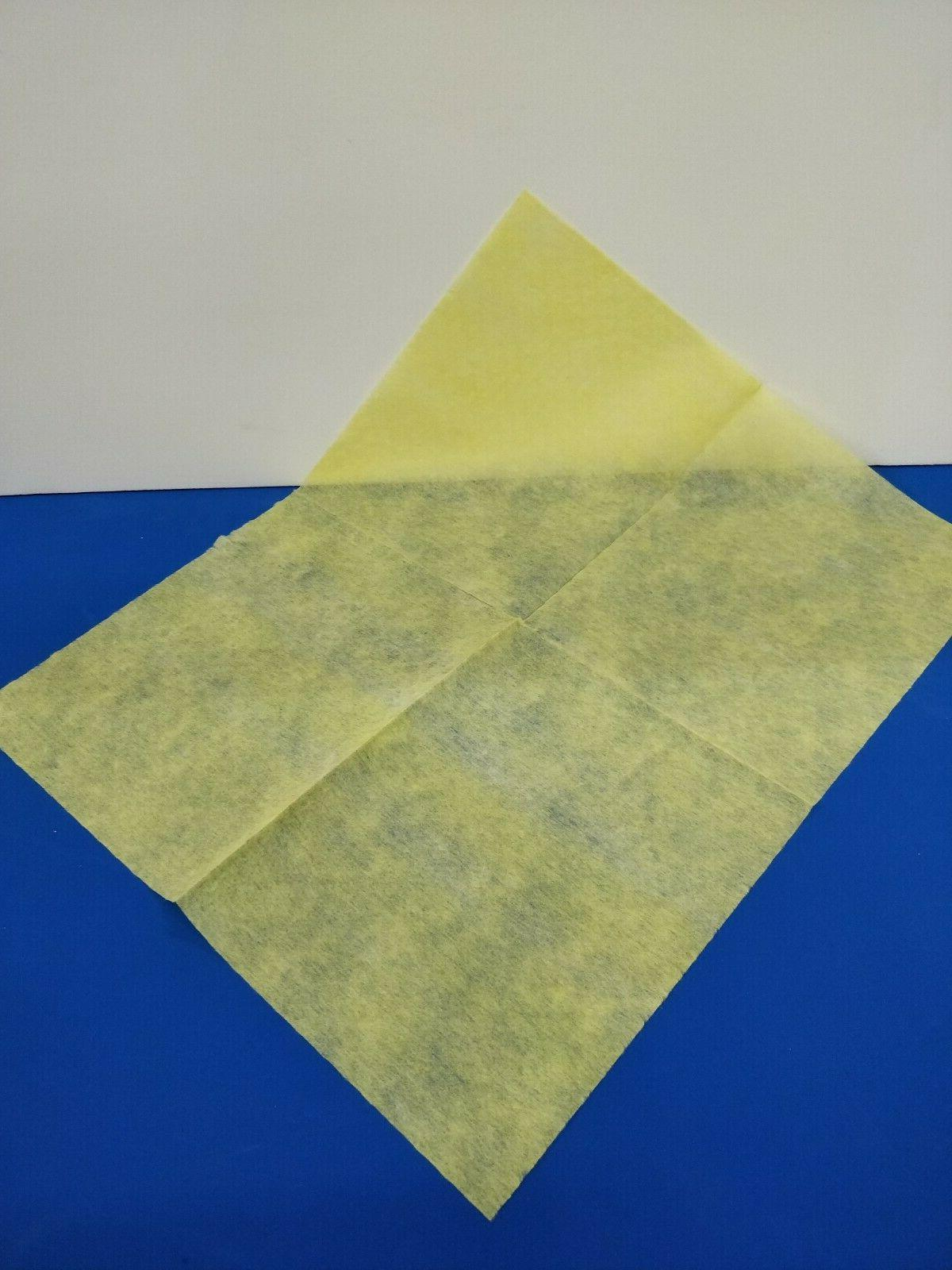 """Large Dust 13"""" X 17"""" Yellow Pack"""