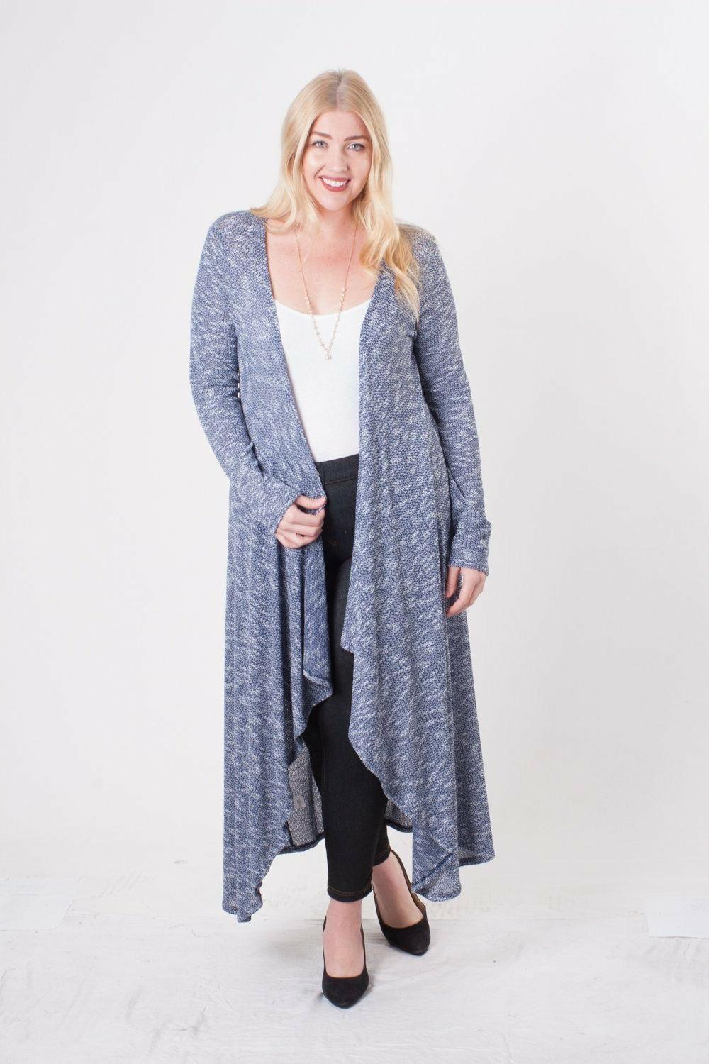 Hot Ginger Maxi Duster Open Front 3X 4X