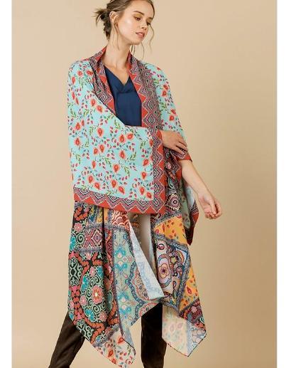 maxi kimono cardigan duster open front boho