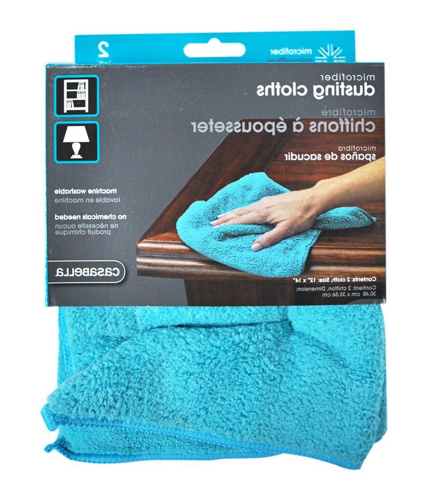microfiber 12 x 14 dusting cloth pack