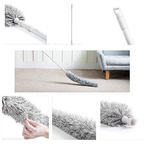 "Best Extension Pole Reach 50"" - Extendable Interior Hypoallergenic Microfiber - Wet Use"